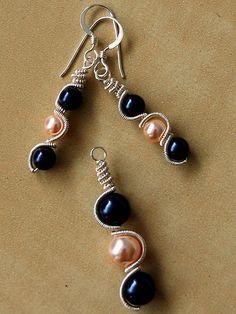 Swarovski Pearl Wire Wrapped Earrings