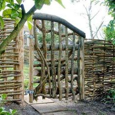 Rustic Woven Gate