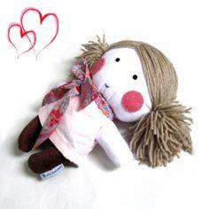 Rag doll toy plushie baby girl kid handmade by meilingerzita, $42.00 Toys Joy, Dolls Soft Baby, Muñequitas To, Rag Dolls, Baby Girls, Dolly Dolls, Dolls Toys, Girls'S Dol