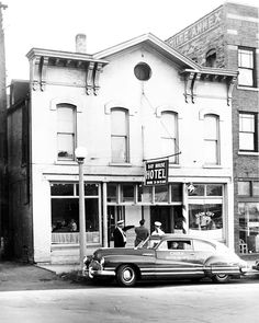 Day House Hotel      1947: The Day House Hotel was at 135-137 N. Main St. It was torn down in 1949. Burtschi & Co. later was located at this address. (H file photo)