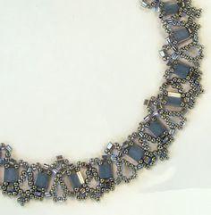 Sandra D Halpenny - Free Bead Patterns and Ideas : New Tila Lace Necklace - Free pattern