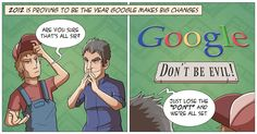 Newest Dave and Dan Comic: Google integrates evil into its business plan.
