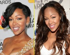 Meagan Good had made an asymmetrical short cut her staple style until she recently decided to go long with layered loose waves. Not only did Meagan opt for longer hair, but she also parted ways her her side-swept bang.