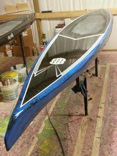 14' Blkbox Surf custom pintail race board | Distressed Mullet $2000
