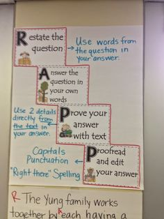 Who's Who and Who's New: RAPP- Restate, Answer, Prove, Proofread