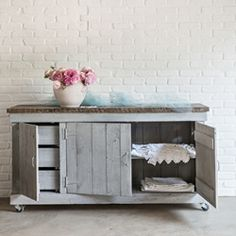 Rachel Ashwell Shabby Chic Couture Carmine Cabinet Grey