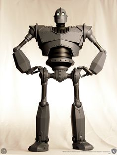 "16"" tall Iron Giant figurine with 30 points if articulation, coming soon from Mondo's new toy venture."