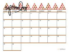 SEPTEMBER 2013 PRINTABLE CALENDAR // from justdawnelle.com