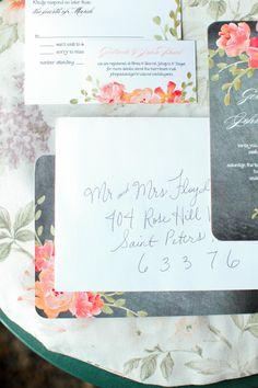 wedding stationery http://www.weddingchicks.com/2013/08/28/vintage-backyard-wedding-2/