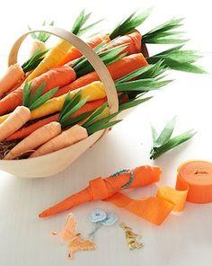 The Crafts Dept. crepe paper carrots