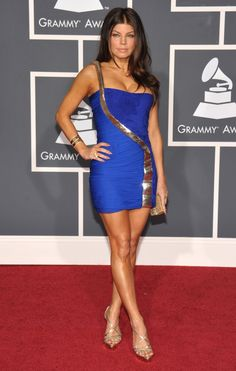 Fergie arrives at the 52nd Annual GRAMMY Awards on Jan. 31 at Staples Center in Los Angeles