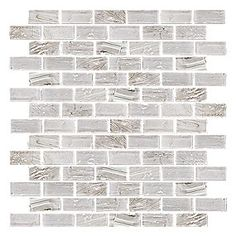 Crushed Ice Brick Glass Mosaic 12 x 12 in. $16.99 a SF. #thetileshop