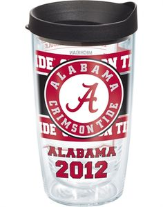 Collegiate   Alabama, University of   2012 Schedule Wrap with Lid   Tumblers, Mugs, Cups   Tervis