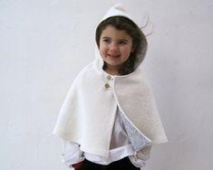 boil wool, wool capelet, cloth, capes, babi, girl hood, winter weddings, flower girls, girl white