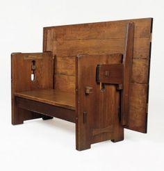 BRILLIANT!Charles Sumner Greene (of Greene & Greene) table-bench, 1904