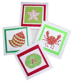 Coastal Christmas Cards -- free shipping