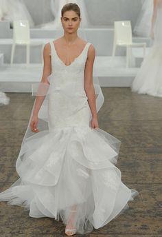 Monique Lhuillier Spring 2015 Bridal Collection #MoniqueLhuillier #bridal #nitsas