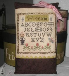 Lil Abbys Widsom is the title of this cross stitch pattern from Abby Rose Designs.