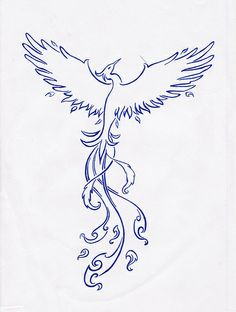 """phoenix tattoo, very tempting...         """"The bird proudly willing to burn,  So that he may live again,  Chooses the flames of fires  That burn the aged Phoenix  The nature stands still  Till a new young bird starts again,  and begins the legend of the Phoenix.""""    - Claudian (Roman author)"""
