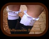 Tall Lace Leg warmers Boot socks  You choose white gray black or brown
