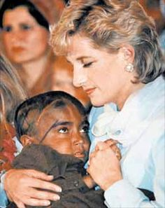 "Known to touch and hug people with AIDS, Diana changed the world's cruel perception of the disease. ""The worst illness of our time is that so many people have to suffer from never being loved."" -Princess Diana"