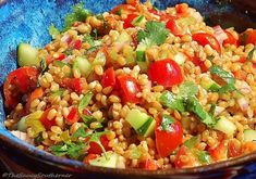 Wheat Berry Southwest Salad #MeatlessMonday
