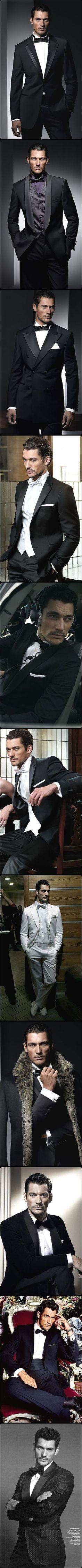 tuxedo, david gandy, black tie attire, david gandi, suit, dress up