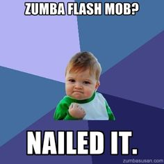 Zumba Flash Mob, anyone?