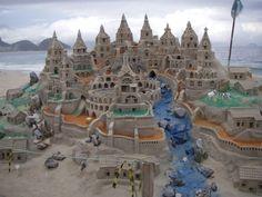 Sand Castle With Color, Ipanema, Rio de Janerio, Brazil  photo By NomadicEntrepreneur