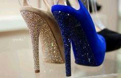 shoes, rhineston, style, sparkl, dream, jimmy choo, heels, glitter, blues