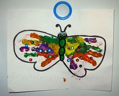 Handprint Butterfly + Links to more butterflies & caterpillars crafts/activities