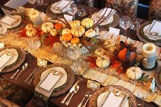 table decorations, thanksgiving table decor, fall table, thanksgiving table settings, pumpkin