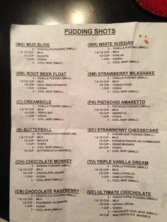 Pudding shots.
