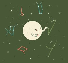 Skinny Andy Illustrations :: Drawing the constellations