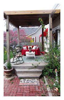 Pretty covered porch