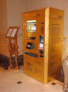 A gold-dispensing vending machine in Abu Dhabi, and more of the world's wackiest vending machines.