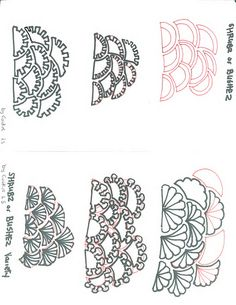 Tangle Pattern  Bushez or Shrubz by Andrea Shuman