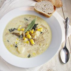 Corn and potato chowder {Katie at the Kitchen Door}