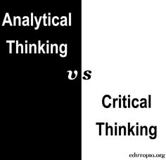 dhs critical thinking and analytical methods