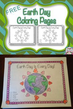 This FREEBIE includes 2 coloring pages for Earth Day. One sheet is a coloring sheet and the other is color by number.