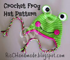 RisC Handmade: Crochet Frog Hat Pattern