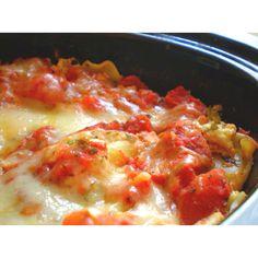 Weight watchers crock pot lasagna  http://www.laaloosh.com/2011/11/02/slow-cooker-vegetarian-lasagna-recipe/