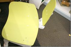 Habitat Restore Restyle Event: Kerri and Trevor's Playroom - kid's chair from pullout keyboard and mouse trays