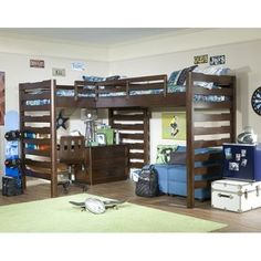 dorm room, doubl loft, kid room, double loft bed