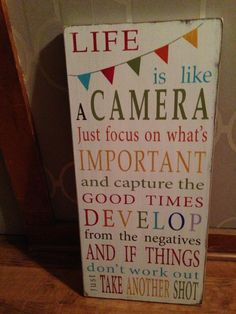 OTSS   Bringing Your Visions to Life » Life is like a camera