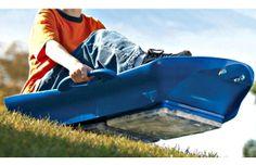Snow sled with extra sliding traction | #TreatYoSelf | #ParksandRec
