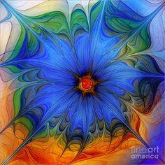 Carlita Cooley - Blue flower
