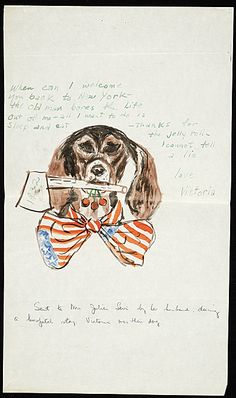 A very patriotic dog.   Citation: Julian E. (Julian Edwin) Levi to Mrs. Julian Levi, ca. 1932. Julian E. Levi papers, Archives of American Art, Smithsonian Institution.
