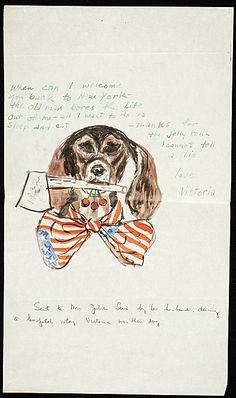 A very patriotic dog.   Citation: Julian E. (Julian Edwin) Levi to Mrs. Julian Levi, ca. 1932. Julian E. Levi papers, Archives of American Art, Smithsonian Institution.