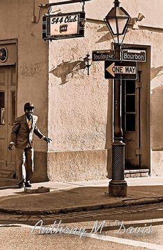 New Orleans Street Dancer on Bourbon Street